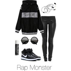 Rap Monster Inspired by btsoutfits on Polyvore featuring polyvore, fashion, style, Jay Ahr, NIKE, The Row, Chapstick and clothing
