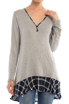Okay seriously, this was a great find. Love Plaid your in for sure! Haven't committed to plaid yet, this is the perfect top to tip your toe in the Plaid pond. And the perfect cut for everyone! 95% Rayon, 5% Spandex