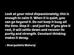the purity of mind....nisargadatta maharaj #quote #consciousness #spirituality…