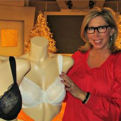 Prepping for a QVC airing behind the scene!  Connie Elder founder of GO2BRAS. 2014