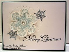 Inking It Up With Cathy: Snowflake Soiree Stamp Set...