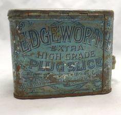 VINTAGE TOBACCO TIN Reads / Edgeworth Extra by LuckySevenVintage, $25.00