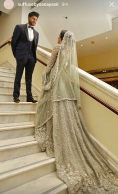 33 Trendy Wedding Couple Punjabi Source by Wedding dresses Asian Wedding Dress, How To Dress For A Wedding, Pakistani Wedding Outfits, Pakistani Bridal Dresses, Asian Bridal, Pakistani Wedding Dresses, Wedding Attire, Indian Outfits, Walima Dress
