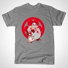 #samurai and #panda designed by David Sossella Available on  https://www.teepublic.com/show/36252-samurai-and-panda
