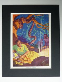 1942 Vintage Jungle Print  Midnight Terror  by PrimrosePrints, £13.00