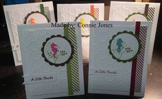 Someone had sent me a few seahorse punches so I used them on these 5 TY cards.