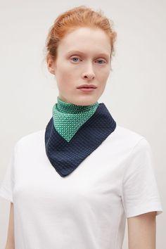COS   Printed silk-blend scarf