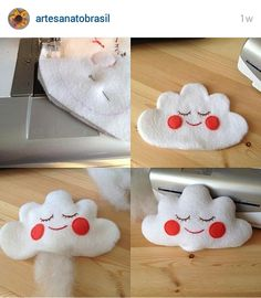 Instagram @artesanatobrasil - mini tutorial - cloud pillow