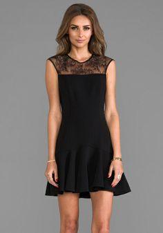 JAY GODFREY Trudeau Dress in Black/Black - Dresses