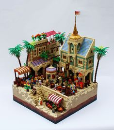 https://flic.kr/p/NVce5R | (CCC14) The Grand Bazaar | The categories of the CCC were so good this year, I just had to build something! This moc was also a great excuse to use some of the rare colors I've been hoarding for the past few years... Built as a free build for LoR and an entry to the CCC! www.classic-castle.com/events/ccc/prizes.cgi?contest=cccxiv