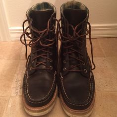 Sperry boots These are amazing. Great quality, good for less than wonderful weather. Leather laces. Very durable and beautifully made. Sperry Top-Sider Shoes Ankle Boots & Booties