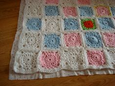 Charm About You: backing a crochet blanket