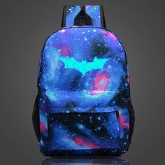 2017 Fashion Batman Luminous Backpack For Teenage Girls Boys School Backpacks Mochila Kids Best Gift Children School Bags