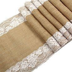 Items similar to Burlap Lace Hessian Table Runner Rustic Wedding Party Table Decoration Favor on Etsy Chic Wedding, Trendy Wedding, Wedding Rustic, Wedding Ideas, Wedding Country, Wedding Beach, Rustic Weddings, Country Weddings, Wedding Vintage