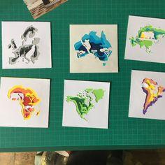 Lindo trabajo de capas de papel de colores (papercut)