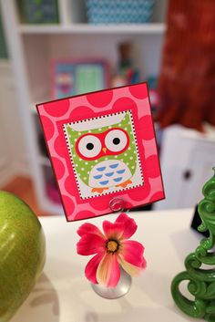 pinks owl cut outs | Owl Welcome Banner