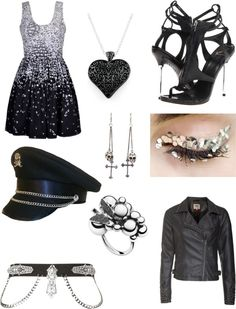 """""""black and silver"""" by anna-46 ❤ liked on Polyvore"""