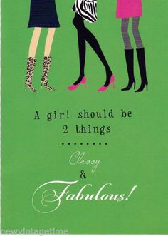 Ten-10-FUN-BLANK-Retro-GIRLY-FABULOUS-Cards-Envelopes-by-Tri-Coastal-Design
