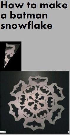 How to make a batman snowflake: idea from fail blog