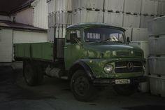 Vintage Mercedes 710 in Henningsvær, Austvågøya Island, Lofoten, Norway