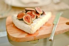 Source: Fashionable Hostess - www.fashionablehostess.com/brie-with-figs-and-agave/  View entire slideshow: Our Go-To Entertaining Recipes on http://www.stylemepretty.com/collection/744/
