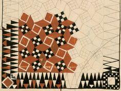 Handknüpfteppich  4418 (1902).  Entwurf von Koloman Moser für Backhausen 1902
