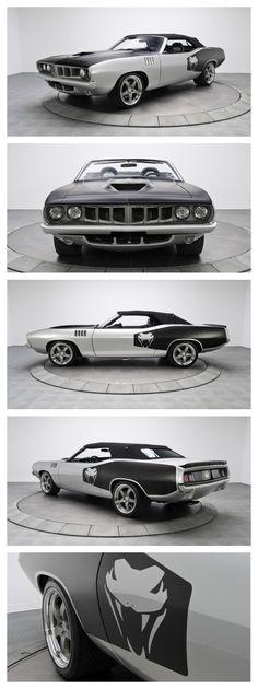 Badass Plymouth Supercharged Vipercuda #MusclecarMonday