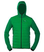 Caldo Hybrid Jacket - Primaloft synthetic down front torso mixed with fleece back and arms