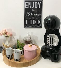 [New] The Best Home Decor (with Pictures) These are the 10 best home decor today. According to home decor experts, the 10 all-time best home decor. Coffee Bars In Kitchen, Coffee Bar Home, Home Coffee Stations, Mini Kitchen, Coffee Corner, Coffe Table, Coffee Time, Coffee Shop, Cafe Bar
