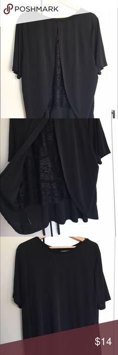 NWOT ASOS Curve Black Shirt with Lace Detail Back This ASOS Curve shirt is an amped-up version of your favorite black t-shirt. The lace back is unlined and adds a definite wow factor to any outfit. New without tags. ASOS Curve Tops Blouses