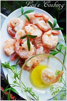 Leas Cooking: White Shrimps Recipe