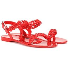 91927161b9 Givenchy Jelly Flat Sandals ($340) ❤ liked on Polyvore featuring shoes,  sandals,