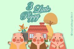 3 Little Piggy by CozyCatDesign on @creativemarket