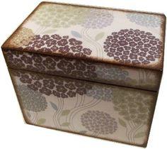 Recipe Box Decoupaged Purple Hydrangea Box by IHaveBeenFramed