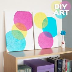 Create tissue paper circles.   Community Post: 22 Incredibly Easy DIY Ideas For Creating Your Own Abstract Art