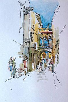 Barri Gotic, Barcelona. by suhita, via Flickr