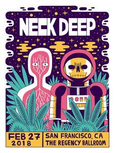 Neck Deep - Gig Poster by Jack Teagle
