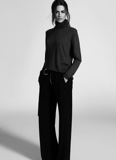 The balance of the wide pant with the elongated knit is so good