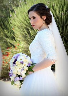 Modest Wedding Dress with Long Sleeves #sleeves #long #kallah #gown #modest #bridal #gown #wedding #dress #mormon #lds #tznius #tzniut