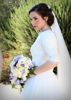 Modest Wedding Dress with Long Sleeves #sleeves #long #kallah #gown #modest #bridal #gown #wedding #dress #mormon #lds #tznius #tzniut