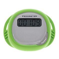 WEKA LCD Display Step Counter Waterproof Splash Proof Walking Shoes Lace Pedometer  Green *** Want to know more, click on the image.