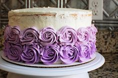 Ombre Cake with Buttercream Swirls