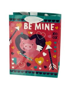 Valentine's Cupig 'Be Mine' Gift Bag (Available in a pack of 36)