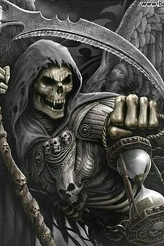 Death wears a mask Grim Reaper Art, Grim Reaper Tattoo, Don't Fear The Reaper, Dark Fantasy Art, Dark Art, Totenkopf Tattoos, Skull Pictures, Skull Artwork, Metal Artwork