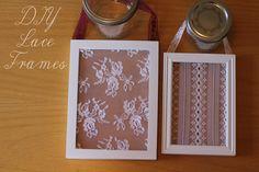 DIY lace frames
