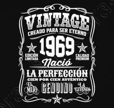 Vintage 1969 Cadeau Anniversaire 50 Ans T-shirt premium Homme 50th Birthday Quotes, 60th Birthday Party, 50th Party, Vintage Birthday, Girl Birthday, Happy Birthday, Pj Party, Happy 50th, Happy B Day