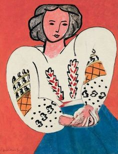 Matisse: My favorite: The Romanian Blouse! Used to have a poster of this on the wall.
