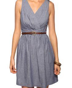 denim-colored dress, 23.75€, forever21