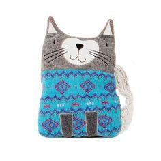 Coussin chauffant chat gris                                                                                                                                                                                 Plus