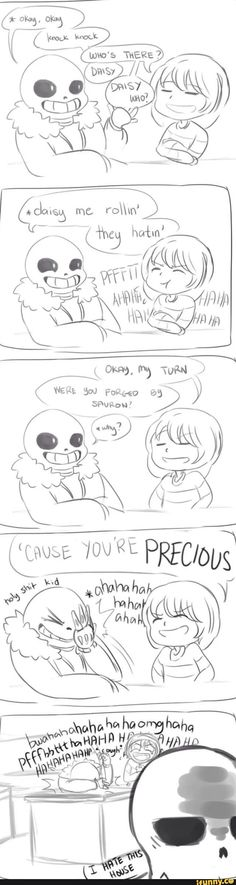 papyrus, sans, frisk, undertale || ME i would groan for puns but i would make puns that would make your life cringe